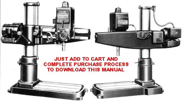 cincinnati bickford tool co rh mcspt com cincinnati bickford radial arm drill press manual Drill Press