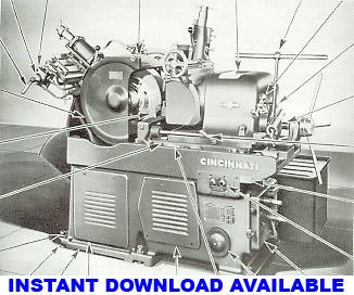 cincinnati milling machine co manuals rh mcspt com