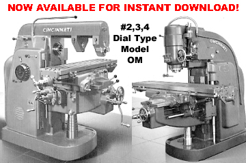 cincinnati dial type mill model om manuals rh mcspt com Cincinnati Milacron CNC Mills Cincinnati Milacron Manuals