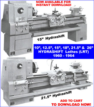 cincinnati lathe manuals rh mcspt com Cincinnati Lathe Used Cincinnati Hydrashift Lathe 15